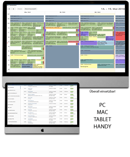Terminplaner Kundenverwaltung Kalender Kundendatenbank Termine Terminplaner Kundendatenbank Patientenverwaltung Gratis